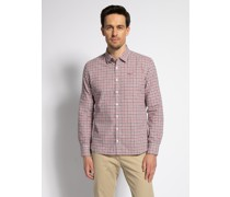 Langarm Hemd Regular Fit rot/oliv/weiß