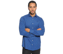 Hemd Regular Fit, Blau, Herren