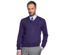 Pullover, lila, Herren