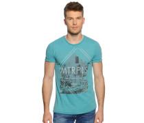 T-Shirt, türkis, Herren