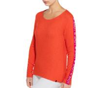 Pullover orange meliert
