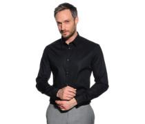 Stretchhemd Slim Fit, schwarz, Herren