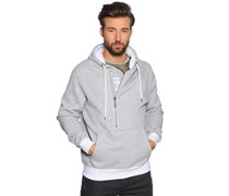 Sweatshirt, grau/weiß, Herren