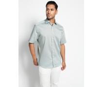 Kurzarmhemd Comfort Fit grün/blau/weiß