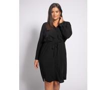 Kleid (große Größe) schwarz