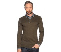 Pullover 2in1, khaki, Herren
