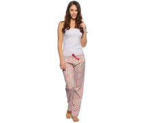 Pyjama, weiß/multi, Damen