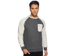 Sweatshirt, anthrazit/offwhite, Herren