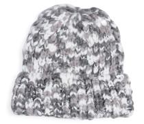 Mütze, grau/weiß, Damen