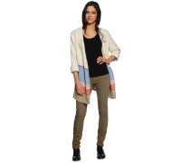 Strickjacke, beige/multi, Damen