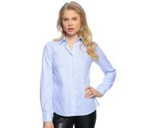 Bluse, hellblau/weiß, Damen