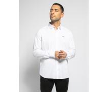 Langarm Hemd weiß