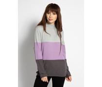 Pullover lila/grau