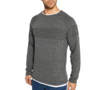 Pullover grau/weiß/meliert