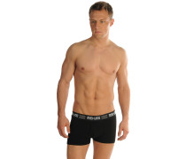 Boxershorts 2er Set, Schwarz, Herren