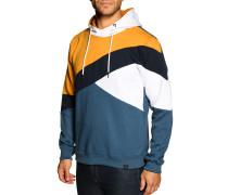 Kapuzensweatshirt blau/weiß/curry