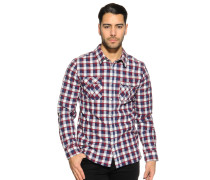 Hemd Regular Fit, bordeaux/navy/weiß kariert, Herren