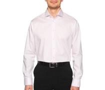 Business Hemd Custom Fit rosa/weiß