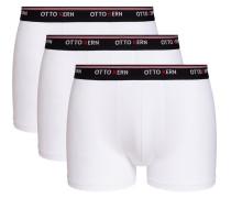 Boxershorts 3er Set weiß