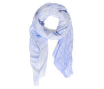 Schal, blau/weiß, Damen