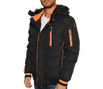 Jacke schwarz/orange
