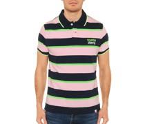 Kurzarm Poloshirt Slim Fit navy/rosa/grün