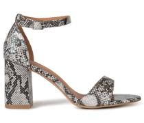 Sandaletten schwarz/grau
