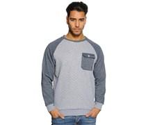 Sweatshirt, grau/navy, Herren
