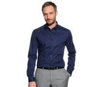 Stretchhemd Slim Fit, navy, Herren