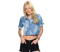 Wild One Shirt, Acid wash blue, Damen