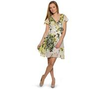 Kleid, weiß/grün, Damen
