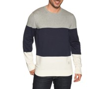 Pullover grau meliert/offwhite/navy
