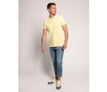Kurzarm Poloshirt Regular Fit hellgelb