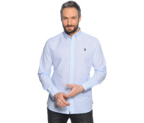 Hemd Regular Fit, hellblau/weiß gestreift, Herren