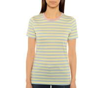 Kurzarm T-Shirt gelb/hellblau