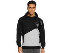 Sweatshirt, schwarz/grau, Herren