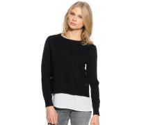 Pullover + Top, schwarz, Damen