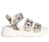 Sandalen weiß/grau