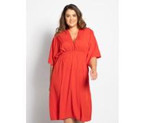 Kleid (große Größe) rot