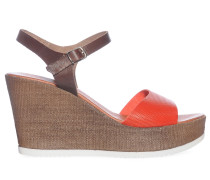 Wedges, braun/rot, Damen