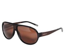 Sonnenbrille, schwarz/braun, Herren