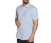 Kurzarmhemd Slim Fit hellblau/weiß