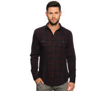 Hemd Regular Fit, navy/rot kariert, Herren