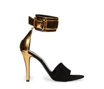 Sandaletten, gold, Damen