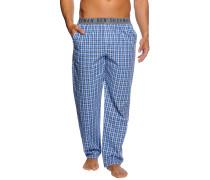 Pyjamahose, blau/kariert, Herren