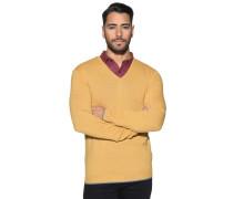 Pullover mit Kaschmir, Gelb, Herren