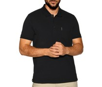 Kurzarm Poloshirt Regular Fit schwarz