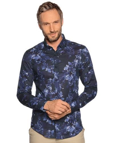 Langarm Hemd Slim Fit navy/blau
