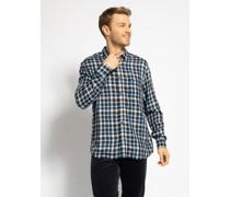 Langarm Hemd Regular Fit blau/grau