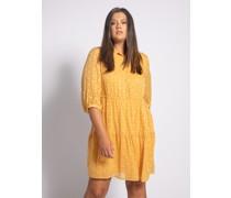 Kleid (große Größe) gelb